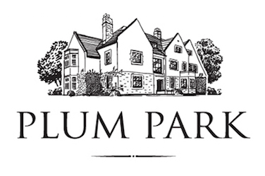 Logo for Plum Park in monochrome by graphic artist Dimitrije Mikovic