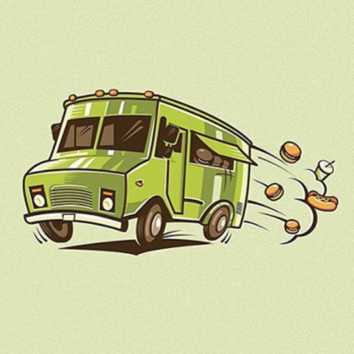 Illustration, food truck, by Serbian graphic designer Milos Milovanovic