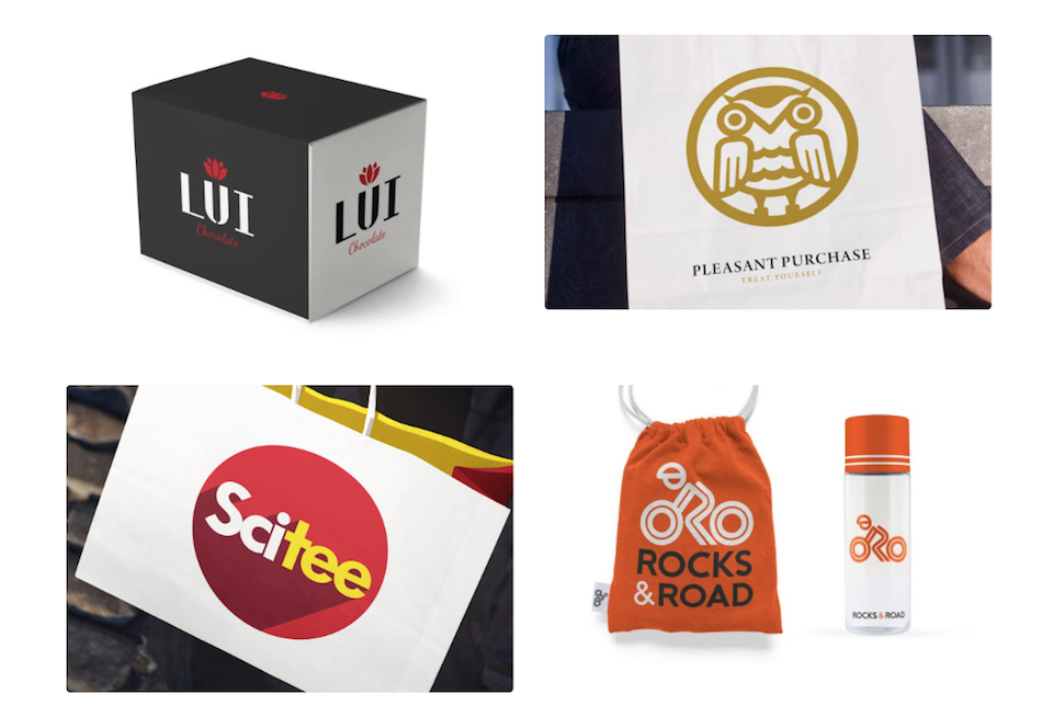 Four logo examples by Ian Paget
